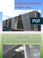 Find Out Best Metal Mesh at Low Cost
