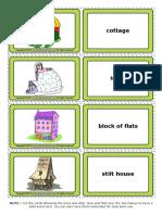 Homes Houses Esl Vocabulary Game Cards for Kids