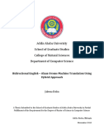 Bidirectional English – Afaan Oromo Machine Translation Using Hybrid Approach