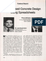 Prestressed Concrete Design Using Spreadsheets