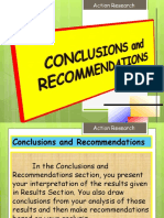 Action Research (Conclusion and Recommendations)
