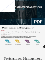 Performance Management and Motivation