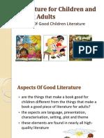 Aspects of Good Children Literature Pt. I
