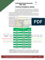 Convocatoria Bolivia Danza 2019 2