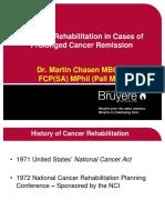 Session 3 Palliative Rehabilitation, Dr Martin Chasen