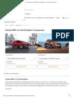 Ford Ecosport vs Honda WR-V Comparison - Prices, Specs, Features