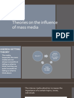 Theories on the Influence of Mass Media