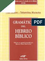 JOÜON-MURAOKA (2005). Gramática Del Hebreo Bíblico. Instrumento Para El Estudio de La Bib[4151]