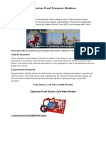 Explosion Proof Pressure Washers