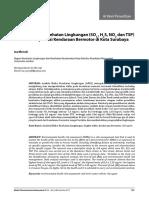 Analisis Risiko Kesehatan Lingkungan (SO 2 , H 2 S, NO 2 dan TSP) Akibat Transportasi Kendaraan Bermotor di Kota Surabaya