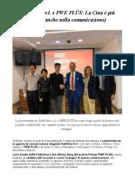 PubliOne PWE PLÜS Partnership Offrire Alle Aziende Nuove Opportunità Di Sviluppo