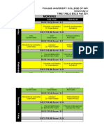 Time Table Fall 2019 - PUCIT New Campus