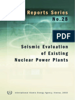 Seismic Evaluation of existing nuclear power plants