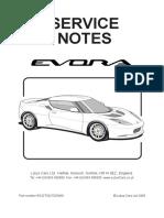 Lotus Evora Service Manual
