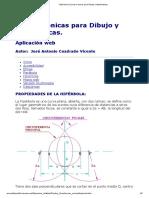 Hipérbola _ Curvas Conicas Para Dibujo y Matematicas
