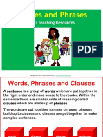 Clause and phrase