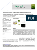 biodiesel production research