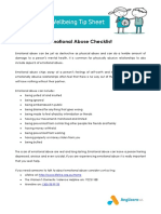 Emotional Abuse Checklist