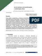 Produções criativas de matrizes e de transformações geométricas com metodologias ativas