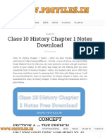 Class 10 History Chapter 1 Notes Download