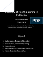 Overview of Health Planning in Indonesia in 2018