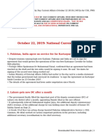 Day by Day Current Affairs (October 22 2019) _ MCQs for CSS, PMS