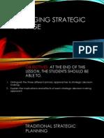 Managing strategic Change