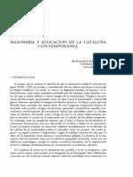 MASONERÍA  Y  EDUCACIÓN   EN   LA  CATALUÑA  CONTEMPORÁNEA