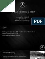 Mercedes Benz Best F1 Team
