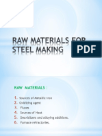 Raw Materials for Steel Making