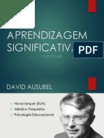 APRENDIZAGEM SIGNIFICATIVA DE AUSUBEL