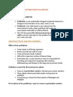 Environmental Issues Draft