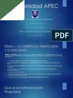 Capítulo I - La Gerencia Financiera y Su Entorno