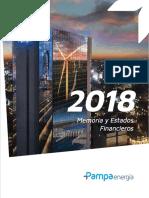Pampa energia memoria y estados financieros 2018