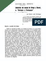 Revision Nacionalsindicalista Del Ensayo de Ortega y Gasset Titulado Biologia y Pedagogia 774926