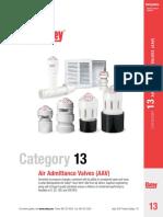 Categorías de válvulas de ventilación