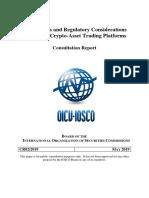 Relatório da IOSCO (maio de 2019)