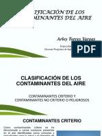 2. Clasificacion de Los Contaminantes Del Aire