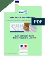 Nca2018005 - Annexe 6 - Payfip - Guide de Mise en Oeuvre Site Dgfip