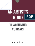 Artwork Archive Guide Art Inventory