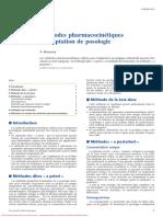 Méthodes Pharmacocinétiques D_adaptation de Posologie