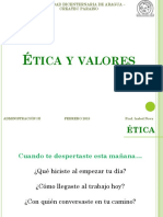 Etica y Valores - Febrero 2018