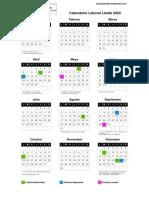 Calendario Laboral 2020 Lérida