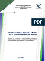 Plan de Migracion UCV