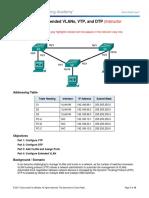 2.1.4.5 Lab – Configure Extended VLANs, VTP, and DTP (Instructor Version)