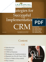 Strategies for Successful Implementation of CRM