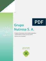 Grupo Nutresa Estados Financieros Separados 2T19