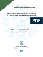 Software para el procesamiento estadístico de los resultados académicos
