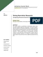 Doing narrativa research, Fraser