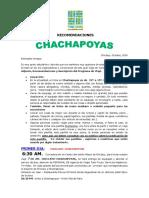 Recomendaciones de Viaje a Chachapoyas 2019